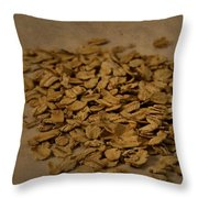 Oatmeal For Breakfast Throw Pillow