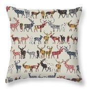 Oatmeal Spice Deer Throw Pillow