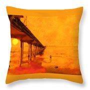 Ob Sunset Throw Pillow
