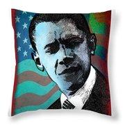 Obama-3 Throw Pillow