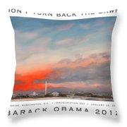 Obama Campaign Poster 2012 Throw Pillow by William Van Doren