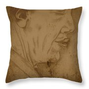 Obama Throw Pillow by Collin A Clarke