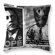Obama Election Poster Throw Pillow