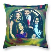 Obama Family Victory Throw Pillow