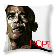 Obama Hope Throw Pillow