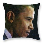 Obama1 Throw Pillow