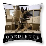 Obedience Inspirational Quote Throw Pillow