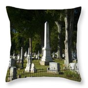Obelisk And Headstones Throw Pillow