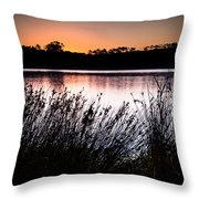 Obidos Lagoon Sunrise Throw Pillow
