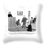 Objection, Your Honor!  The Prosecution Throw Pillow