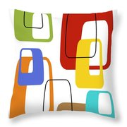 Oblongs On White 3 Throw Pillow