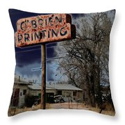 Obrien Printing Throw Pillow