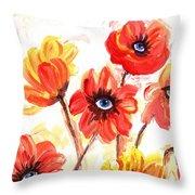 Observant Flowers 101 Throw Pillow
