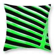 Observe Green Throw Pillow