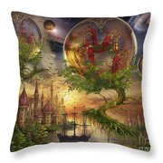 Observer Trees Throw Pillow