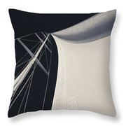Obsession Sails 3 Black And White Throw Pillow