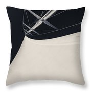 Obsession Sails 4 Black And White Throw Pillow