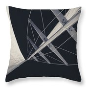 Obsession Sails 7 Black And White Throw Pillow
