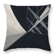 Obsession Sails 8 Black And White Throw Pillow