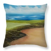 Obstacles To A Beautiful Game Throw Pillow