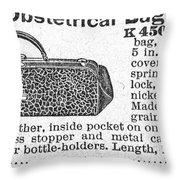 Obstetrical Bag, C1900 Throw Pillow