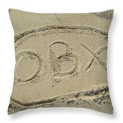 Obx Sign In The Sand Throw Pillow