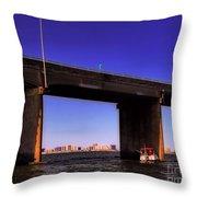 O.c. Bridge N Skyline Throw Pillow