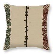 O'carroll Written In Ogham Throw Pillow