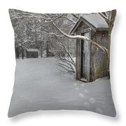 Occupied Throw Pillow
