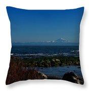 Ocean And Mountains Throw Pillow