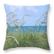 Ocean And Oats Throw Pillow