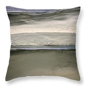 Ocean At Low Tide Throw Pillow