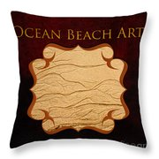 Ocean Beach Art Gallery Throw Pillow