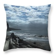 Ocean Beach Pacific Northwest Throw Pillow