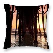 Oceanside Pier Tunnel Throw Pillow
