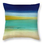 Ocean Blue 3- Art By Linda Woods Throw Pillow