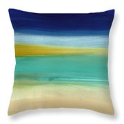 Ocean Blue 3- Art By Linda Woods Throw Pillow