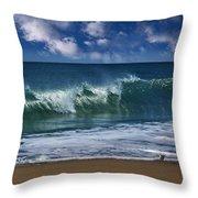 Ocean Blue Morning 2 Throw Pillow