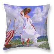 Ocean Breeze Blues Throw Pillow