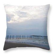 Ocean City At The  59th Street Pier Throw Pillow