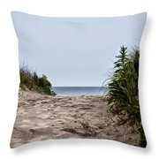 Ocean City Beach Throw Pillow