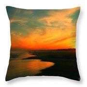 Ocean City Nj Sunset Throw Pillow