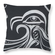 Ocean Eagle Eye Throw Pillow