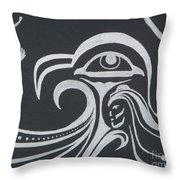 Ocean Eagle Eye Throw Pillow by A Cyaltsa Finkbonner