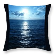 Ocean Fall Throw Pillow