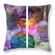 Ocean Fire - Square Version Throw Pillow