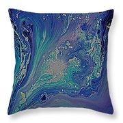 Ocean Flow Energy Throw Pillow