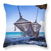 Ocean Front Hammock Throw Pillow