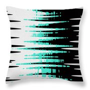 Ocean Gentle Waves Abstract Digital Painting Throw Pillow