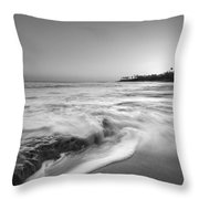 Ocean Glow Bw Throw Pillow